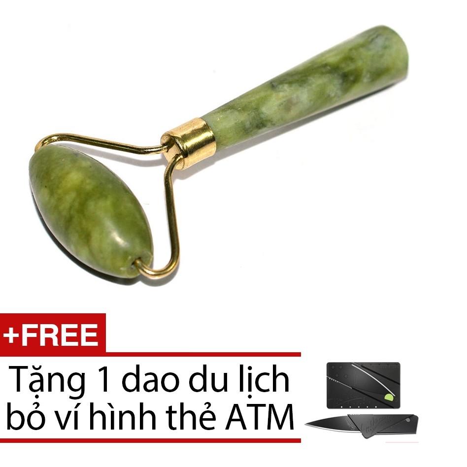 ( FREESHIP ĐƠN 99K) Cây lăn mặt đá cẩm thạch + Tặng 1 dao du lịch bỏ ví VRG008800 - VRG000126