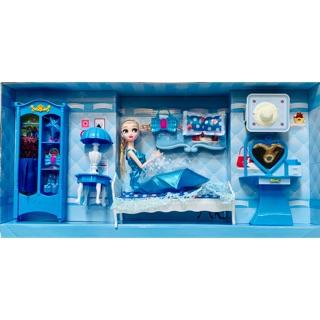 Đồ chơi ngôi nhà búp bê phòng ngủ búp bê Elsa 88019