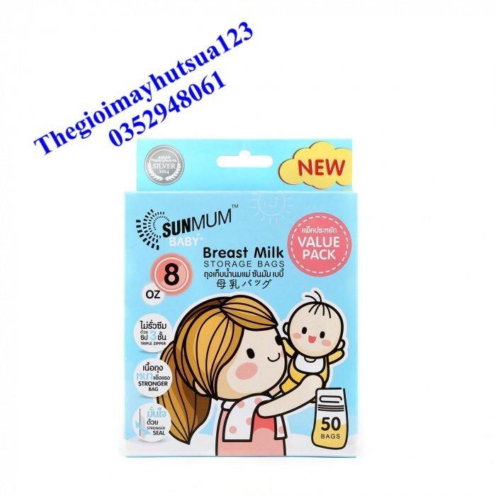 Túi trữ sữa SunMum Thái Lan 50pcs (Mẫu mới)