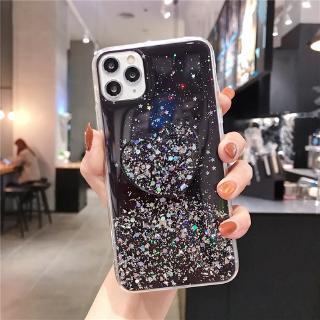 Heart stents Xiaomi Mi 5X 6X 8 Lite 8SE 8X 9 Lite 9SE 9T Pro Phone Case Shine Star Glitter Bling Transparent Cover Love Holder