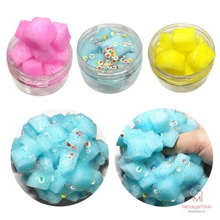 Transparent Clay Stress Relief Slime DIY Crystal Mud Children Kids Toy Gifts