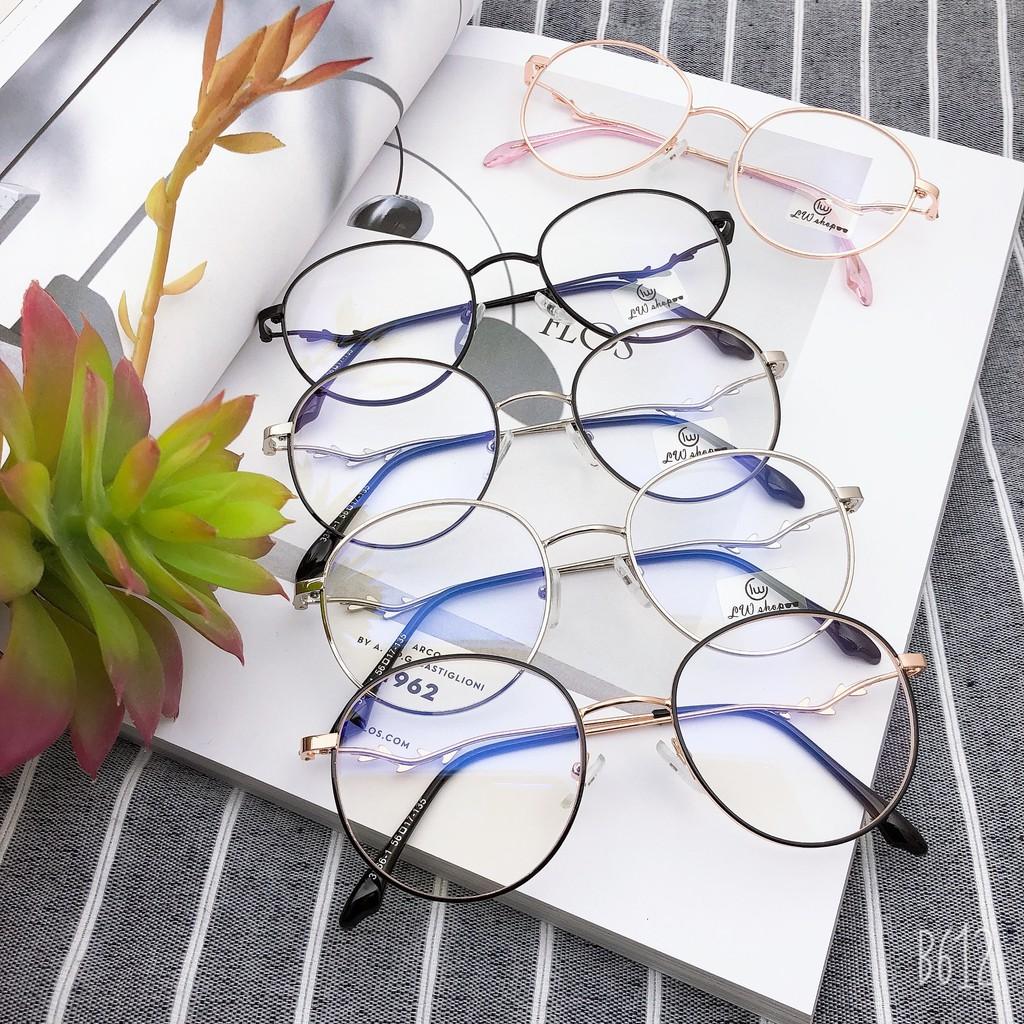 รุ่น 3366 แว่นตาวินเทจ blue blocking เลนส์ป้องกันแสงสีน้ำเงิน กรองแสงโทรศัพท์ ป้องกันแสงแดด UV ได้100%