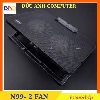 Đế Tản Nhiệt Laptop N99 COOLING PAD cho laptop từ 17 inch trở xuống- Loại Cao Cấp, 1 Fan 2 Fan , Đế Nâng 45 Độ thumbnail