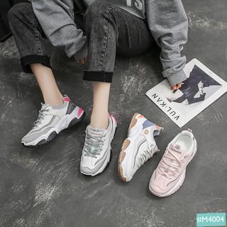 Giày Thể Thao Nữ Độn Đế MINSU Eight M4004, Giày Sneaker Bata Hàn Quốc Đế Độn Tăng Chiều Cao 5cm Phản Quang Cực Cool