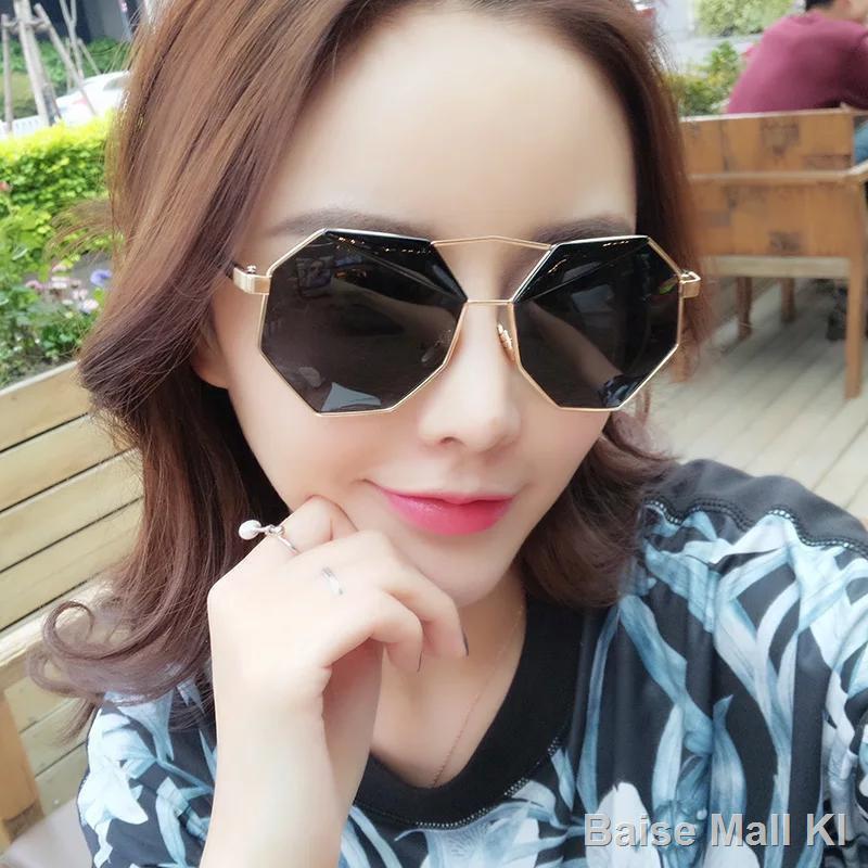 Kính mát nam nữKính râm Zuoanxiao đa giác không đều mát nam và nữ1