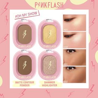Phấn tạo khối PINKFLASH OhMyShow mịn màng lấp lánh trang điểm tự nhiên thumbnail