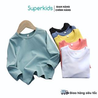 Áo thun trơn dài tay màu basic cho bé 8-18kg QATE716 thumbnail