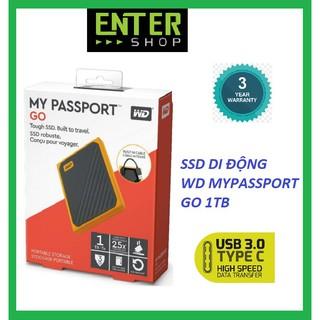SSD di động Western mypassport Go 1T tặng kèm túi bảo vệ ổ cứng