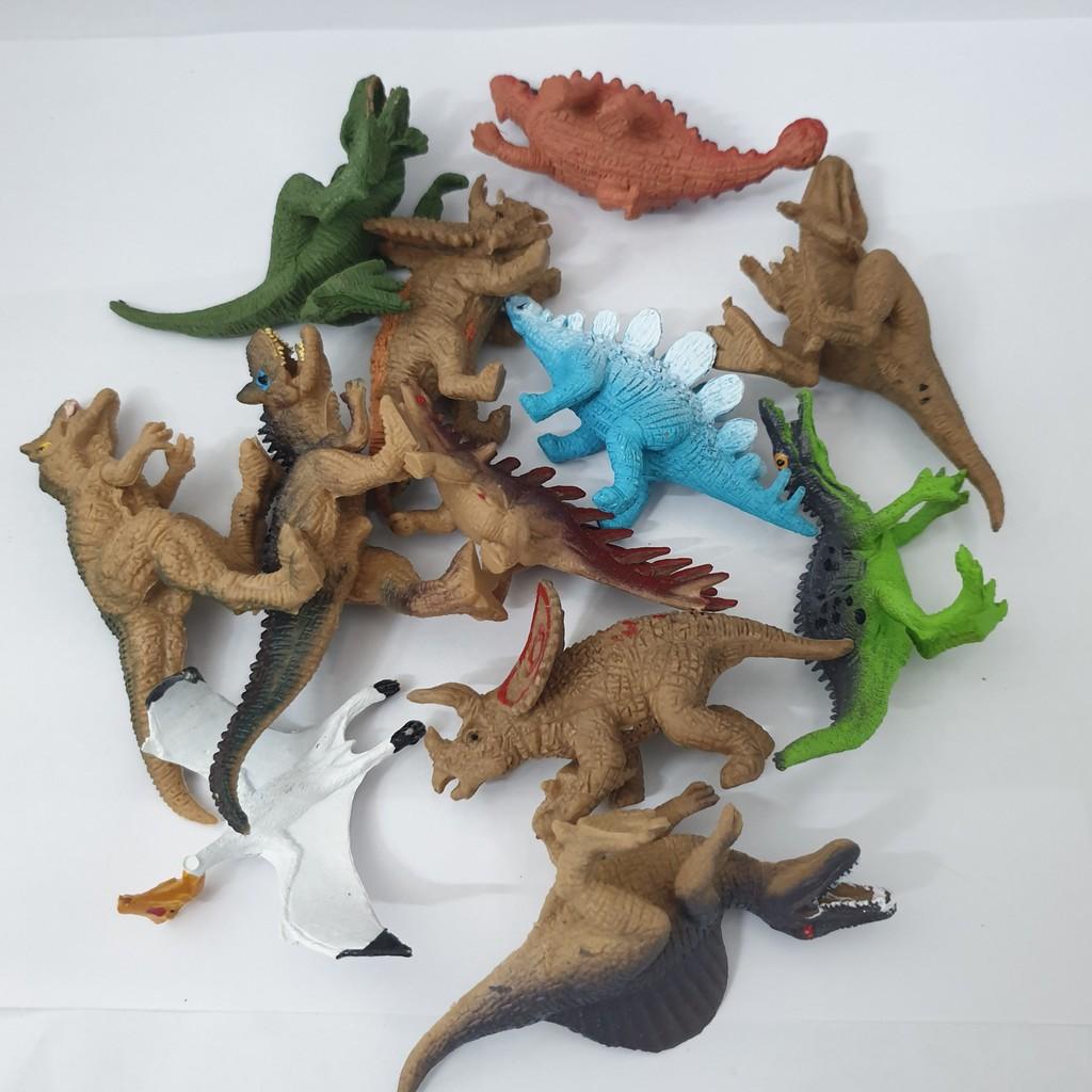 Đồ Chơi 12 mô hình Khủng Long kỉ Jurassic World (4x8 cm) New4all Dinosaurs cho bé 3 tuổi vui chơi, phát triển trí nhớ