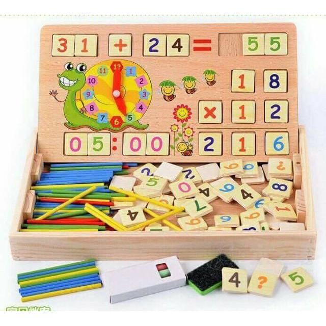 Bảng gỗ toán học cho bé