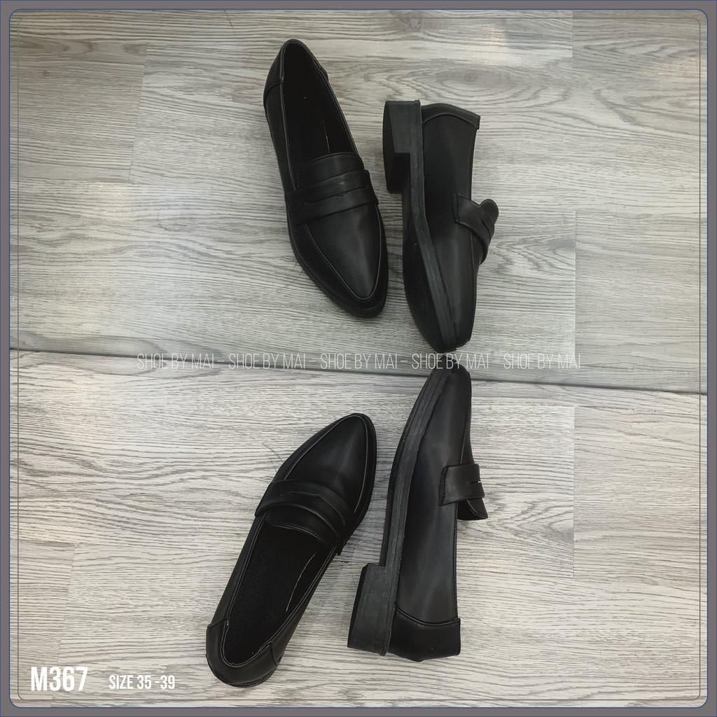 Giày lười nữ mũi nhọn phong cách đơn giản M367 SHOEBYMAI
