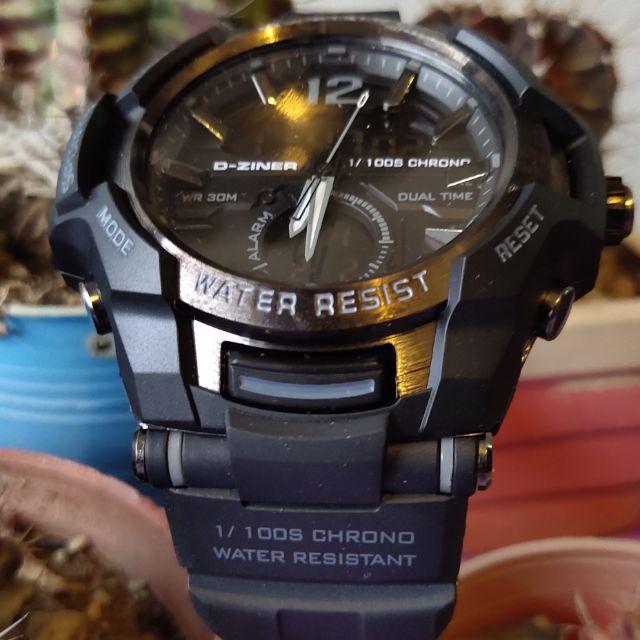 นาฬิกาข้อมือ2ระบบดิจิตอลกับเข็มsport