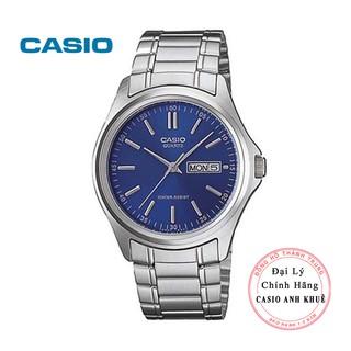 Đồng hồ nam casio MTP-1239D-2ADF dây kim loại mặt xanh