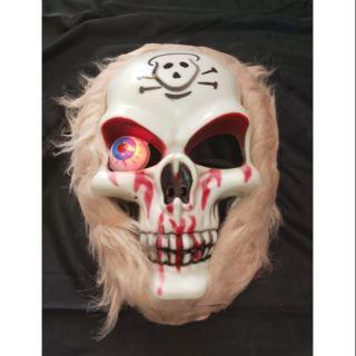 Mặt nạ xương sọ có đèn. Hóa trang Halloween