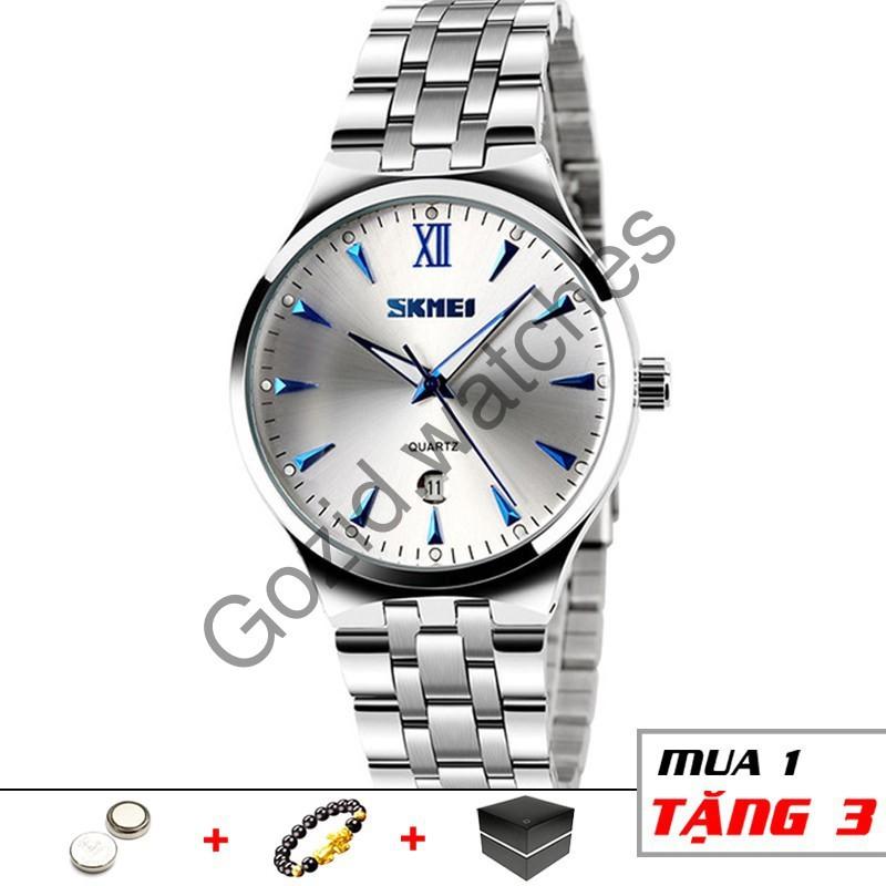 Đồng hồ nam cao cấp dây thép không gỉ chống nước SKMEI SM12 -Gozid.watches