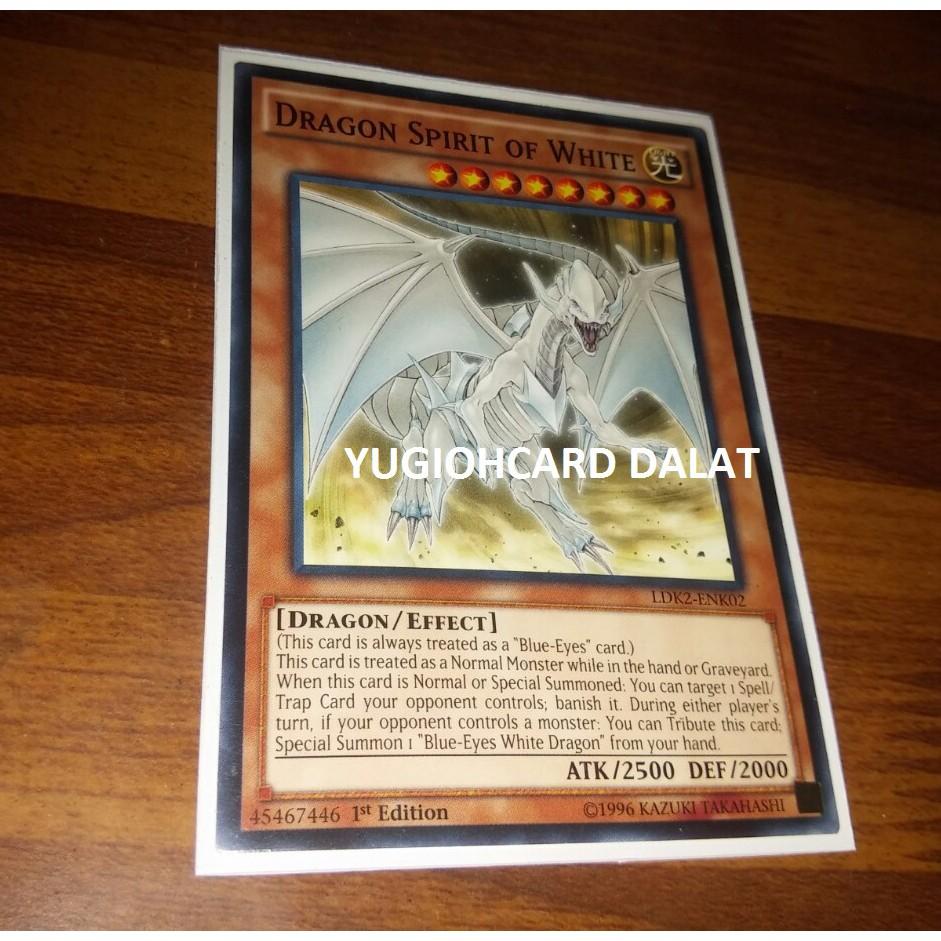 Thẻ bài Yugioh chính hãng LDK2-ENK02 Dragon Spirit of White – Common