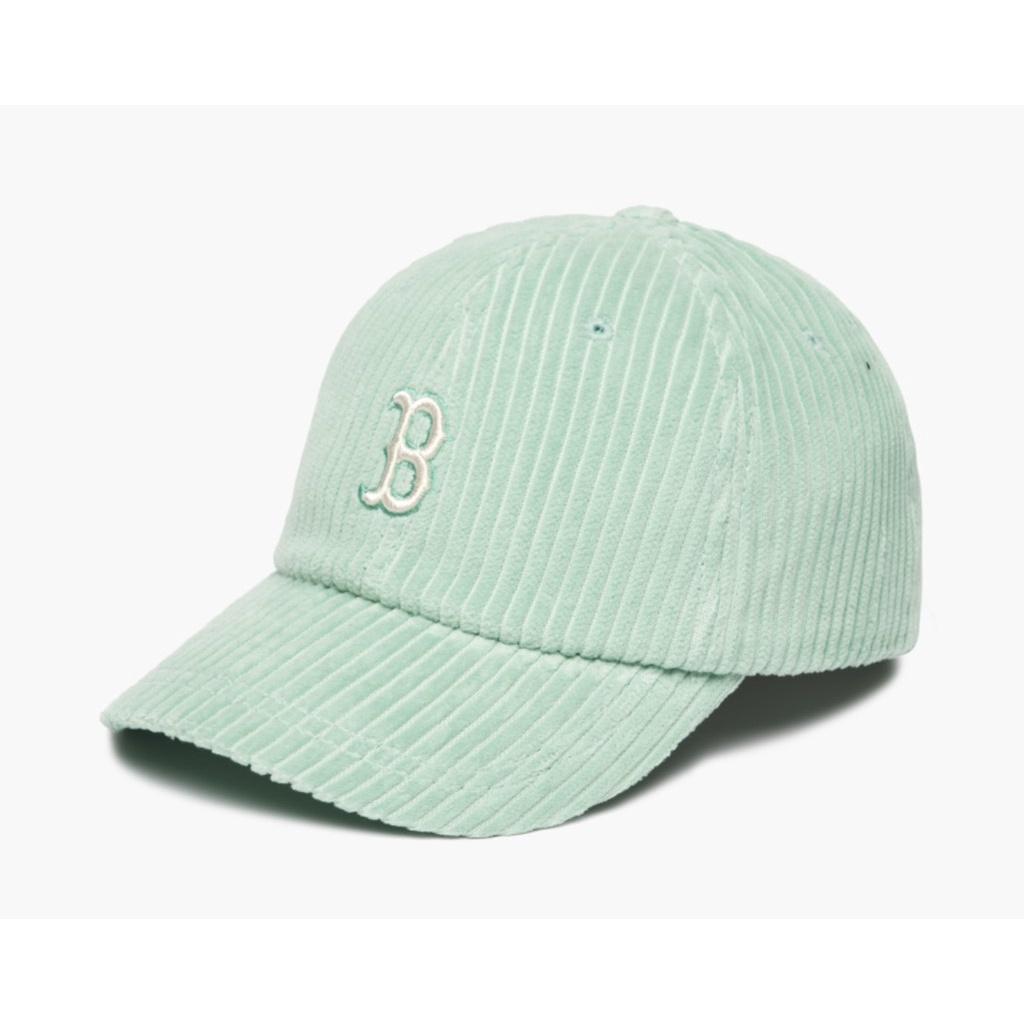 Mũ MLB nhung logo chữ B xanh mint