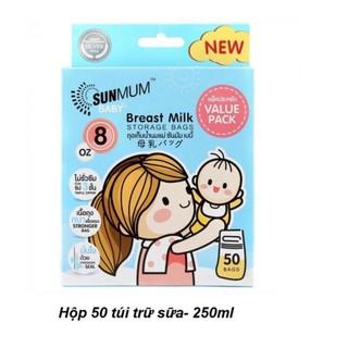 Túi Trữ Sữa Sunmum Thái Lan 250ml Hộp 20 50 Túi