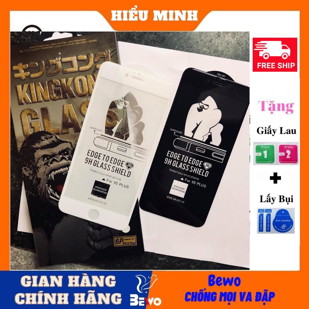 Kính cường lực iphone King Kong Full Màn 6plus/7plus/8/8plus/x/xs/xs max/11/12 pro/11 promax / ip12 promax
