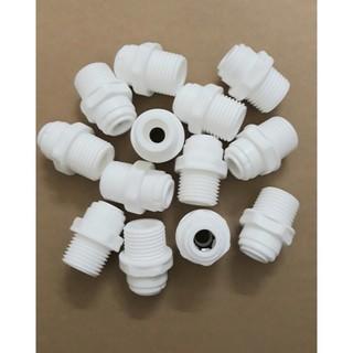 Nối thẳng nối nhanh 1 đầu ren 21 và 1 đầu dây 6mm hoặc 10mm (21-6, 21-10)