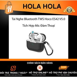 Tai Nghe Bluetooth TWS Hoco ES38 ES42 V5.0 tích hợp mic đàm thoại và định vị (trắng)