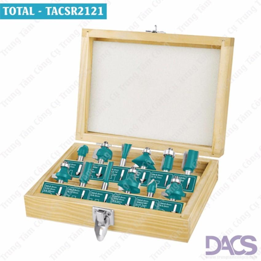 Bộ mũi phay gỗ 12 chi tiết cốt 12mm-Total TACSR2121