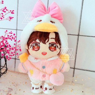 20CM Clothes Set Sean Xiao Zhan Yibo BTS EXO Doll Duck Bag Hat Toy Dolls Accessories
