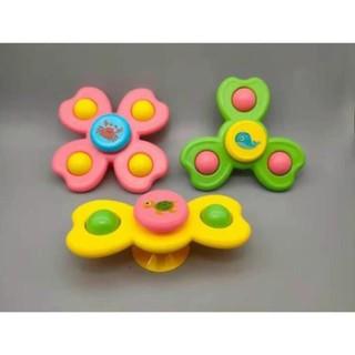 Set 3 đồ chơi con quay spinner hình côn trùng vui nhộn cho bé, bộ 3 chong chóng dính tường cho bé. thumbnail