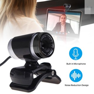 Ready in stock USB Webcam High-definition Web Camera with Clip-on Base Built-in Microphone USB2.0 Web Cam for Computer PC Laptop