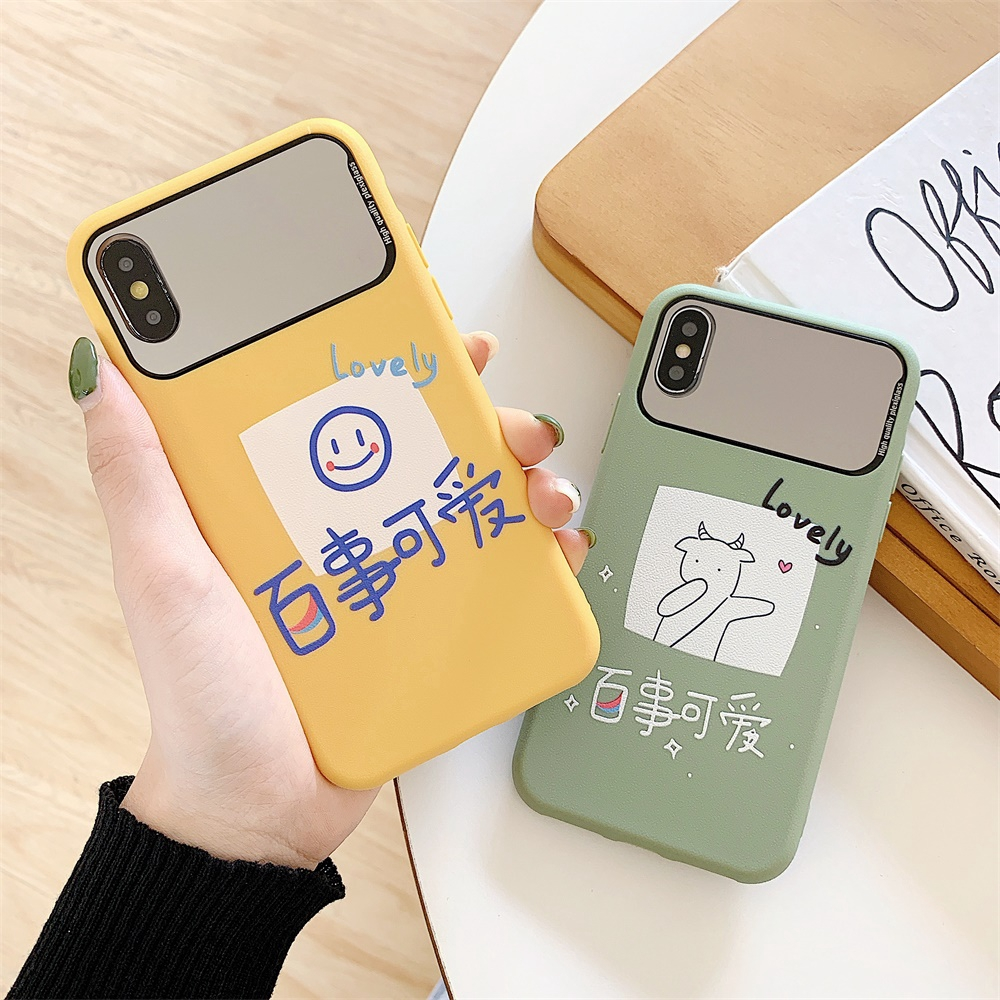 X/XS XR Soft Cover Cute Pepsi For iPhone 7/8 Mirror XS MAX Green 6 6s Plus TPU Yellow Casing