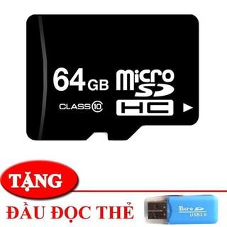 Mẫu thẻ nhớ MICRO SD 64 GB, thiết kế bền bỉ, Dung lượng 64 GB giúp tăng bộ cho thiết bị của bạn