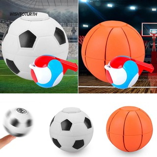☼WT Kids Gift Football Basketball Finger Hand Spinner EDC Stress Relief Gyro Toy