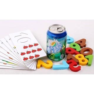 Bộ học số và tập đếm kèm thẻ ghép