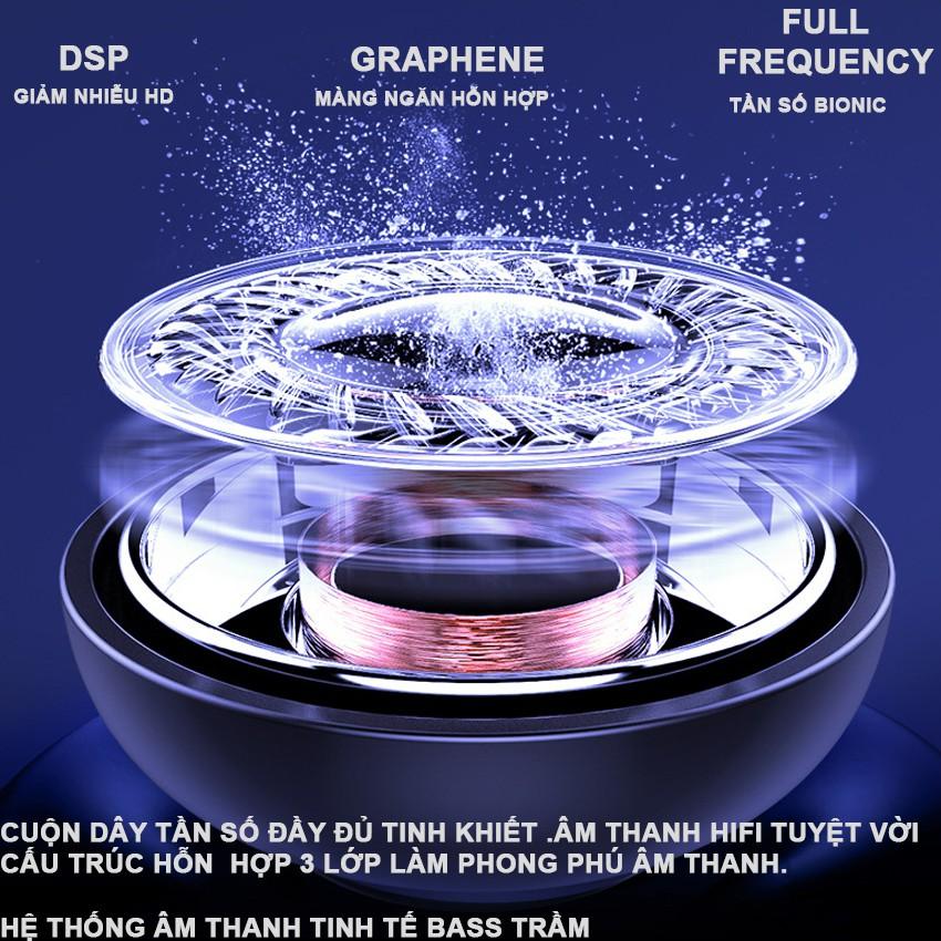 Tai nghe bluetooth 5.0 Q32-1 kiêm sạc dự phòng 2600mAh, màn LED báo pin, chống nước ipx7