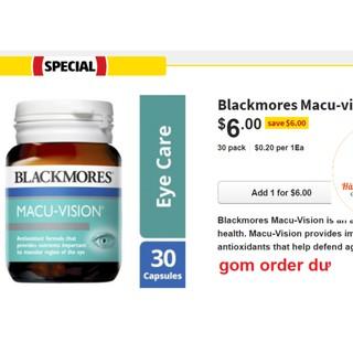[Hàng Úc, đủ bill] Viên bổ mắt Blackmores Macu Vision (đủ size)