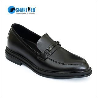[Mã MABRSM50 hoàn 10% đơn 300K tối đa 50K xu] Giày lười công sở SMARTMEN tăng chiều cao màu đen GL-12Đ thumbnail