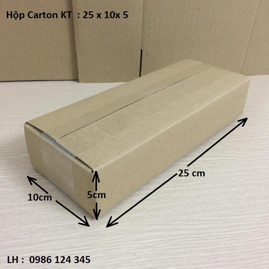 25x10x5 Hộp carton đóng hàng