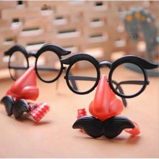 Mắt kính chú hề có râu vui nhộn cho tiệc hóa trang