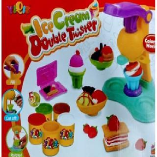 Đồ chơi đất nặn có máy làm kem