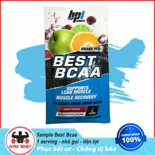 Gói thử sample Dinh Dưỡng Chống Dị Hóa Cơ Bắp giữ cơ thể thon gọn BPI Bpisports Best Bcaa 1 lần dùng – Authentic 100%