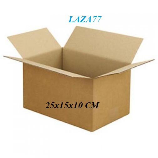 Thùng Carton combo 20 Hộp size 25x15x10 Giấy nâu