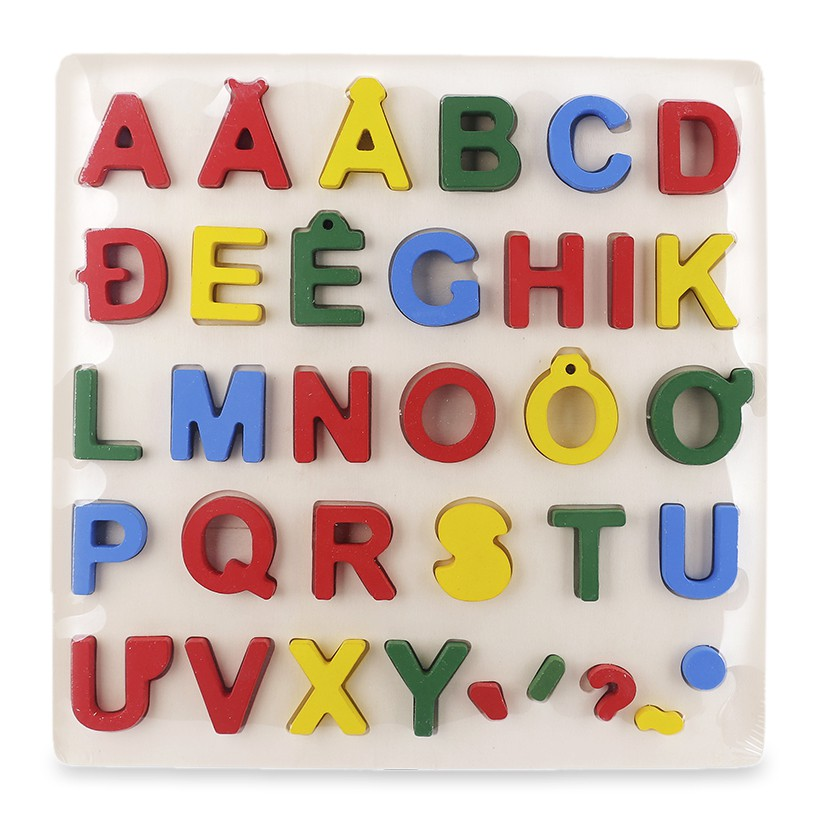 Bảng chữ nổi tiếng việt bằng gỗ kt 30x30cm