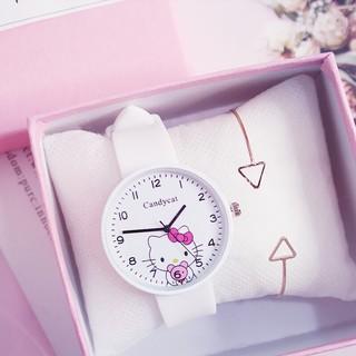 Đồng hồ thời trang nam nữ Candycat mèo Kitty dây silicon Z78