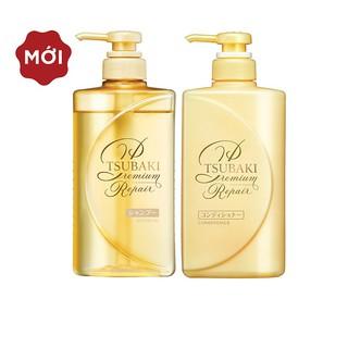 Bộ đôi gội xả Phục hồi ngăn rụng tóc Premium Repair Tsubaki 490ml/chai