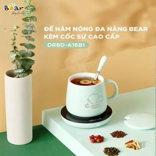 Đế làm nóng đồ uống,Đế Hâm Nóng Kèm Cốc Bear DRBD-A16B1 ( Chính Hãng) thumbnail