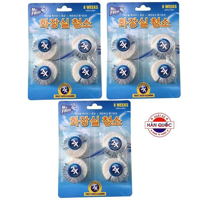 Bộ 3 vỉ 12 Viên tẩy xanh diệt khuẩn làm thơm bồn cầu X2 Mr.Fresh Korea - 2769020 , 879217875 , 322_879217875 , 220000 , Bo-3-vi-12-Vien-tay-xanh-diet-khuan-lam-thom-bon-cau-X2-Mr.Fresh-Korea-322_879217875 , shopee.vn , Bộ 3 vỉ 12 Viên tẩy xanh diệt khuẩn làm thơm bồn cầu X2 Mr.Fresh Korea
