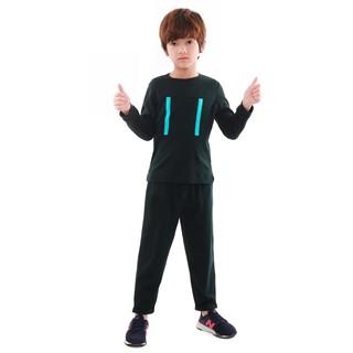 Bộ quần áo bé trai Narsis KE9069 màu xanh rêu đậm thumbnail