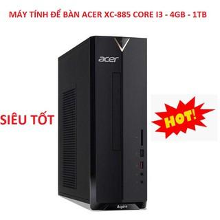 Cây Máy Tính Để Bàn, PC Acer XC-885 Chip Core i3-8100 - Ram 4GB - HDD 1TB Chính Hãng thumbnail