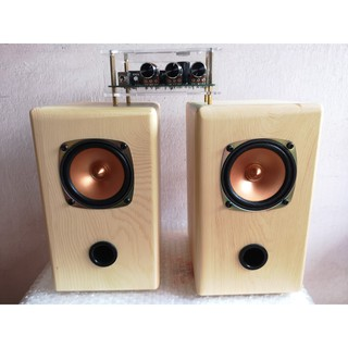 [QT-Shop] Loa toàn dải QT-1110 3 inch làm hoàn toàn từ gỗ tự nhiên, thông trắng nhập khẩu.
