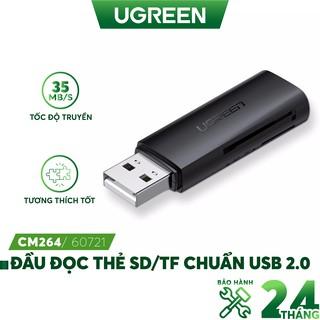 Đầu đọc thẻ SD TF chuẩn USB 2.0 UGREEN CM264 60721 thumbnail